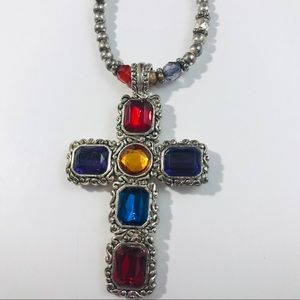 Necklace Cross Colorful pendant Collar